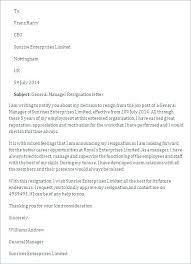 Basic Resignation Letters Resign Letter Format Basic Resignation