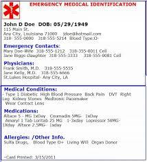 Emergency Card Template Printable Emergency Contact Cards Tirevi Fontanacountryinn Com