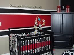black red baby nursery