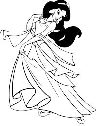 Coloriage Jasmine Princesse Imprimer