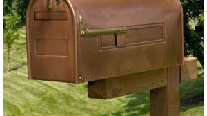 Unique Mailboxes For Residential Locking Post Mount Copper Mailbox