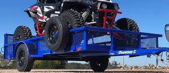 diamond c psa single axle utility trailer