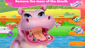 Game Hippo - Bác sĩ nha khoa khám răng cho Hà Mã - Game vui cho bé