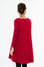 Women Red Dress Midi Dress Elegant Dress Valentine Dress
