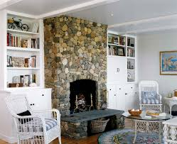 rock fireplace with built ins in tv stand bookshelves bookcases pictures river designs stone fireplace with