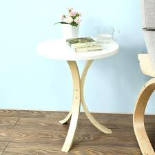 small round side table living room furniture accent coffee three wooden legs new tables uk