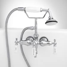 woodrow wall mount tub faucet and hand shower bathroom with regard to stylish household bathtub faucet with handheld shower decor