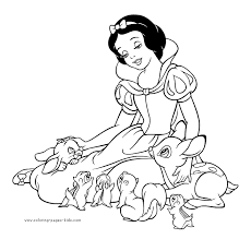 Small Picture Snow White and the Seven Dwarfs coloring pages Coloring pages
