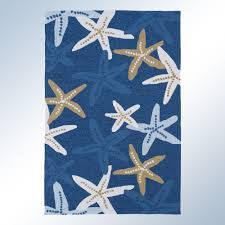 matira starfish rectangle rug blue