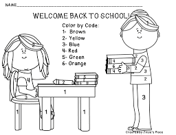 these coloring pages provide an easy activity for your students to back school welcome page kids