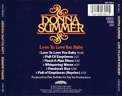 carátula trasera de donna summer love to love you baby