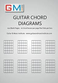 Guitar Chord Diagrams 100 Pages 16 Chord Boxes Per Page Five