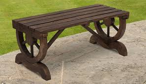 gogroopie outsunny rustic wooden bench