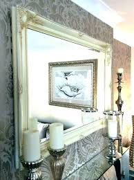 extra large white wall mirror shabby chic mirrors decorative cream dressing table ornate floor 158 extra large