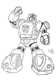 Small Picture Transformers Bumblebee Coloring Pages for Kids
