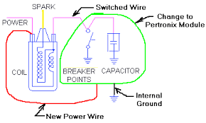 electronic ignition pertronix this circuit is for negative earth conversion only