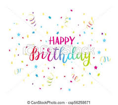 Colorful Text Happy Birthday