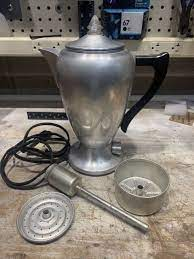It also features vacuum insulation to keep water warm for you can easily monitor the water level even in low vision. Mirro Aluminum Electric Coffee Pot Warmer For Sale Online Ebay