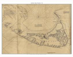 Massachusetts Nautical Charts Old Town Maps Of Nantucket