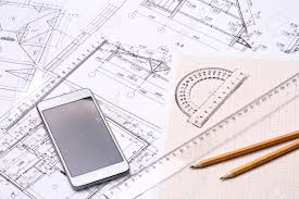 Workplace Of Architect Architectural Design Graph Paper Drawings