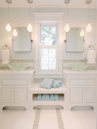 bathroom pendant lighting fixtures. Serene White Schemed Apartment Bathroom Hanging Lightings And Vanity Using Shelves Storage Drawers. Simple Light Fixtures Pendant Lighting