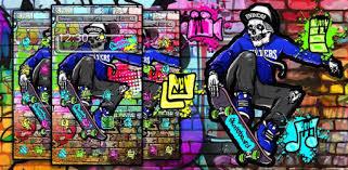 <b>Skateboard Skull</b> Graffiti Theme – Aplikace na Google Play