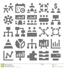 Teamwork Presentations Teamwork Organization Vector Icons 2 Stock Illustration
