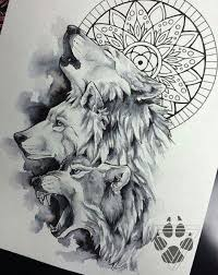 Wolves Nice Sketch Would Give A Great Tattoo For The Lumberjack Or