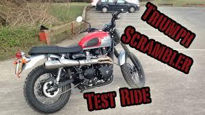 triumph scrambler test ride youtube