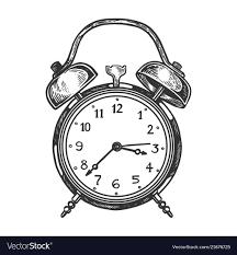 old fashioned alarm clock vector image