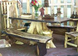 tree stump dining table more views tree trunk glass dining table uk