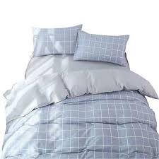 cotton plaid duvet cover set king black