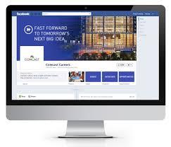 comcast careers facebook profile direct s eblast on behance