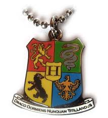 harry potter hogwarts coat of arms crest pendant necklace w ball chain c3116ijom5d