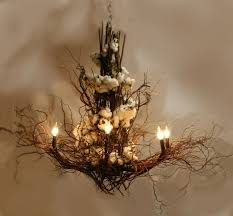rustic beautiful natural twig chandelier decorations ideas for