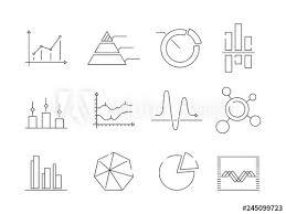 Statistics Symbols Chart Graphs Charts Icons Business Statistics Graphic Outline