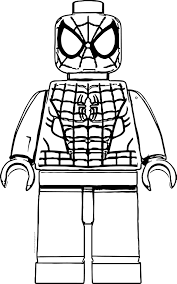 Lego Spiderman Coloring Pages Coloringrocks
