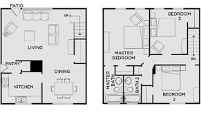 Floor Plans For MSU Students  Student Housing In East LansingTownhomes Floor Plans