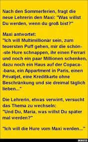 Nach Den Sommerferien Fragt Die Neue Lehrerin Den Maxi Lustige