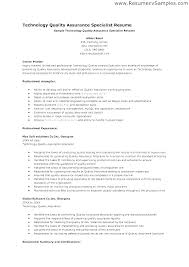 Quality Assurance Analyst Resume Magnificent Sample Quality Assurance Resume Orlandomovingco