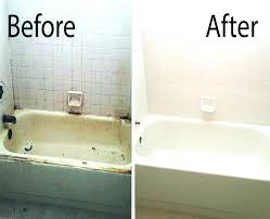 how to fix a chip in a porcelain tub a before after picture of mesa bathtub