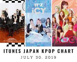 Itunes Japan Itunes Kpop Chart July 30th 2019 2019 07 30