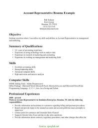 Great Account Representative Resume Customer Service Resume Template