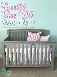 painted baby furniture. Beautiful Gray Crib Makeover With Annie Sloan Chalk Paint Painted Baby Furniture O