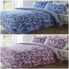 reversible oriental toile de jouy duvet quilt cover bed sets blue or pink
