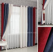 Beautiful Boys Bedroom Curtains In Red Blue And White Combined Colors For Eco  Pertaining To Prepare 15