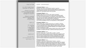 Resume Templates For Word Free Professional A Resume Templates Word