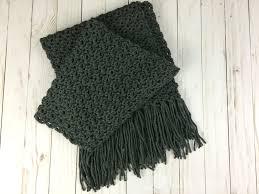 Mens Scarf Crochet Pattern Interesting Simple Scarf For Men Free Crochet Pattern