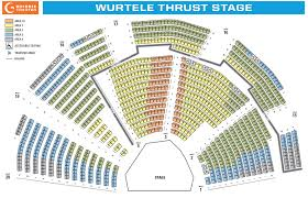 Guthrie Seating Chart Wurtele Thrust Stage Theatre In