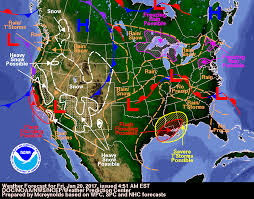 National Forecast Charts Severe Weather Winter Weather